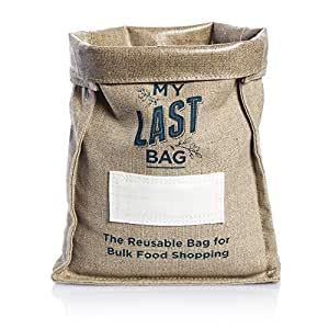 Reusable Produce Bulk Bag Made from Hemp Fabric which is Eco-Friendly & Heavy Duty for Food Storage – No Plastic and Zero Food Waste Produce Bags – Size Small