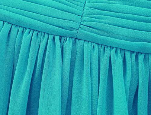 Ssyiz - Vestido - plisado - Sin mangas - para mujer Verde De Malaquita