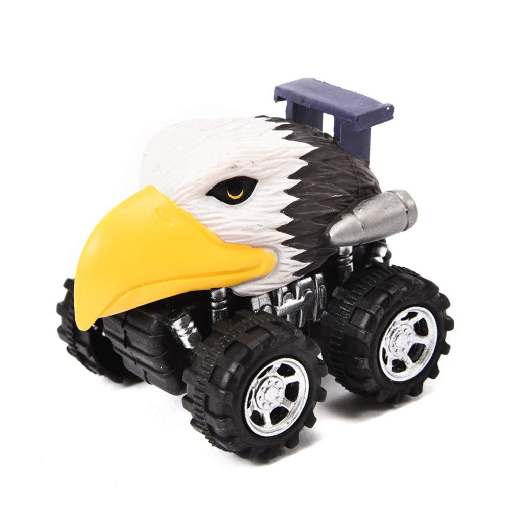 BeesClover かわいい動物型 ミニプルバック 車 おもちゃ 早期教育玩具 LLM-GG012-20181108-C659381657  ワシ B07K9Q2GNZ