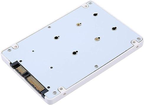 Mini disco duro portátil eficaz y rápido, mini adaptador de 2,5 pulgadas MSATA SSD a 22 pines, caja adaptador SATA SSD, caja externa para disco duro portátil: Amazon.es: Electrónica