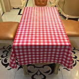 HUELE 10pcs/set Disposable Waterproof Plaid tablecloth One-time for Picnic Wedding Party Table Covers(180X180CM)