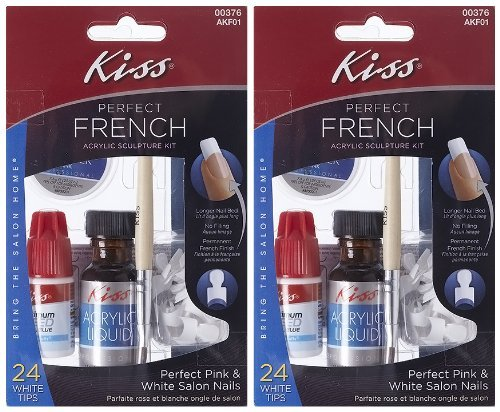 - **2-PACK** Kiss Nails PERFECT French Acrylic Sculpture Kit - AKF01