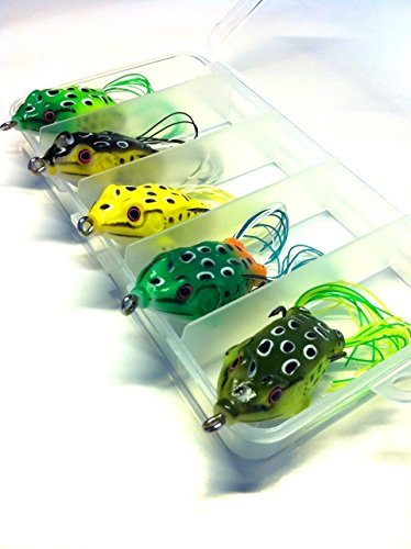 wlure-5-hollow-body-topwater-frogs-fishing-lures-baits-with-free-tackle-box-2-1-5-inch-3-8-oz-fg43kb