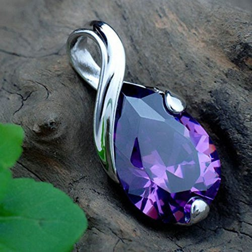 Crystal Heal Chakra Point Natural Gemstone Stone Amethyst Pendant For Necklace by Klicnow
