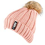 Dosoni Womens Winter Knit Slouchy Beanie Hat Fleece Lined Pink (Small Image)