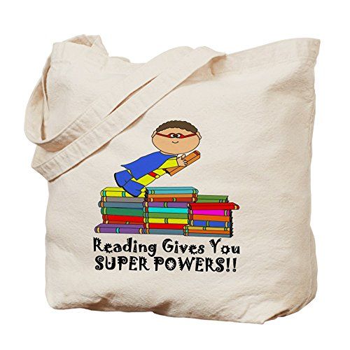 CafePress–Le Da superpoderes de lectura.–gamuza de bolsa de lona bolsa, bolsa de la compra