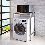 DIDIDD Shelf-Hwf Bathroom Shelves Washing Machine Rack Sundries Storage Rack Floor Type Dish-Washing Machine Rack,120Cm
