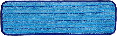 - AmazonBasics Microfiber Damp Mop Cleaning Pad with Stripes, 18 Inch, 12-Pack