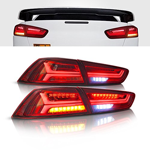 - MOSTPLUS RED LED Tail Light Rear Lamp for 2008-2018 Mitsubishi Lancer w/Sequential Turn Light