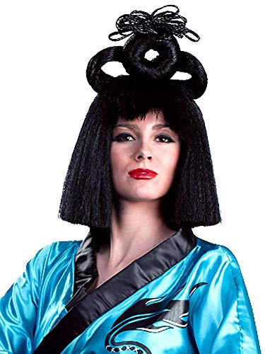 Enigma Wigs Women's Deluxe Geisha, Black, One