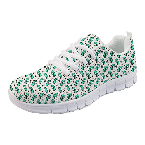Casual Coloranimal Lace Sneakers Women Fashion Walking Running up Dinosaurs Flats PqfHtwq