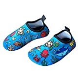 Bigib Toddler Kids Swim Water Shoes Quick Dry Non-Slip Water Skin Barefoot Sports Shoes Aqua Socks for Boys Girls Toddler (5.5 Toddler, Seaworld-Turtle): more info