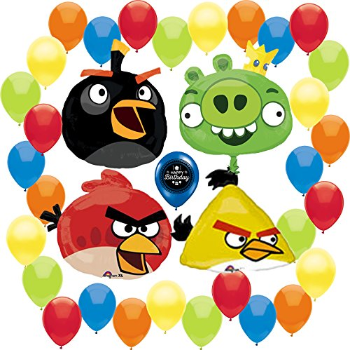 Angry Birds Happy Birthday Deluxe Party Supplies Balloon