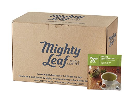 - Mighty Leaf Organic Emerald Matcha Green Tea, 100 count Bulk Tea Pouches