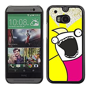 Stuss Case / Funda Carcasa protectora - Funny Troll Meme Wtf Face - HTC One M8