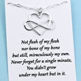 Unbiological Mother & Child Gift • Sterling Silver Infinity Heart Necklace • Foster Parent • Bonus Mom • Adoption Gift • Custom Keepsake Jewelry