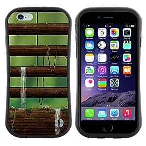 "Hypernova Slim Fit Dual Barniz Protector Caso Case Funda Para Apple (4.7 inches!!!) iPhone 6 / 6S (4.7 INCH) [Naturaleza Musgo Árbol""]"