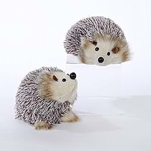 Amazon.com: Kurt Adler White and Brown Hedgehog Christmas ...