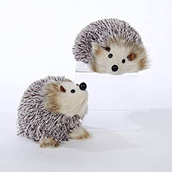 Image Unavailable - Amazon.com: Kurt Adler White And Brown Hedgehog Christmas Ornaments