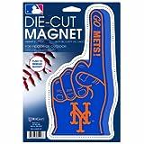 """MLB New York Mets Die-Cut #1 Finger Logo Magnet, 6.25"""" x 9"""""""