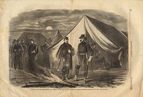 Mcclelland Frog - Harper's Weekly ORIGINAL Gen McClelland surrenders to Gen Burnside 11/22 1862