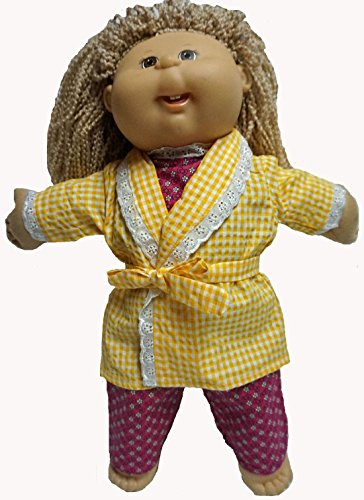 Pajamas And Bathrobe That Fits Cabbage Patch Kid Dolls And Baby Dolls