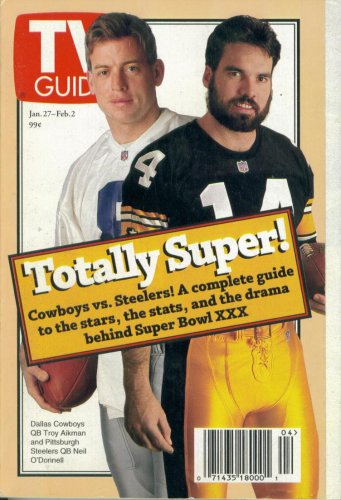 TV Guide #2235 : Troy Aikman's Dallas Cowboys vs. Neil O'Donnell's Pittsburgh Steelers - SuperBowl XXX Preview (January 27, 1996)