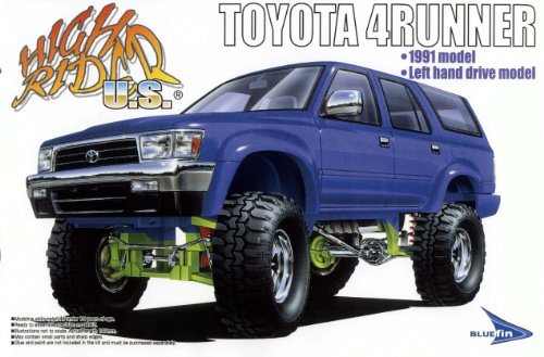 aoshima toyota 4runner 1991 1 24 model kit import it all. Black Bedroom Furniture Sets. Home Design Ideas