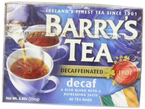 Decaffeinated Irish Tea - Barry's Tea, Decaffeinated, 80-Count Box