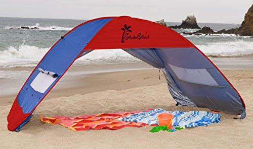 Shade Shack Instant Pop Up Sun Shelter - BLUE/RED - EXTRA LARGE