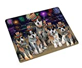 Doggie of the Day 4th of July Independence Day Firework Blue Heelers Dog Blanket BLNKT88005 (50x60 Fleece)