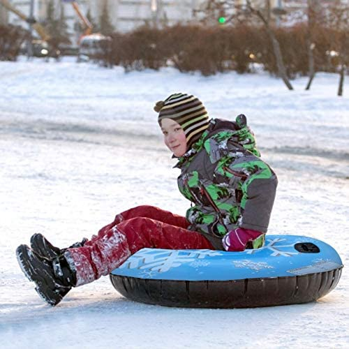 Snow Tube Inflatable Snow Sled Toboggan Snow Toys for Kids and Adults, 47 Inch Inflatable Snow Tube Heavy Duty, Highly Tolerant Abrasion Snow Toys for Winter Outdoor Fun