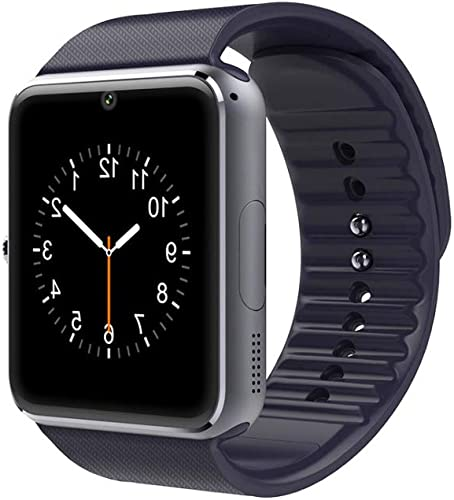 Lanwande Smart Watch GT08 Bluetooth Smartwatch Touch Screen Wrist Watch Sports Fitness Tracker with Camera SIM SD Card Slot Pedometer Compatible iPhone iOS Android for Kids Men Women Black