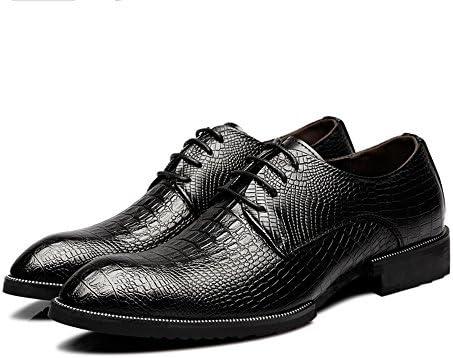 ワニ皮テクスチャアッパーレースアップ通気性のビジネス並ぶオックスフォードメンズ本革の靴 快適な男性のために設計