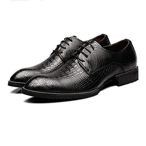 Rosso 41 pelle Scarpe oxford superiore Dimensione coccodrillo Color uomo Business BMD Nero traspirante EU pelle da Texture Up Lace di foderato Scarpe vera di Shoes in 15qzxnTg