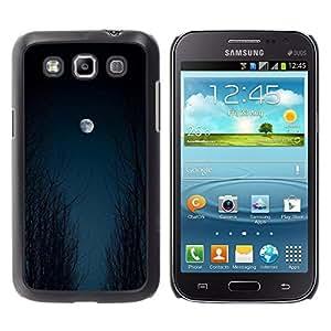 iKiki Tech / Estuche rígido - Moon Sky Woods Halloween Black - Samsung Galaxy Win I8550 I8552 Grand Quattro