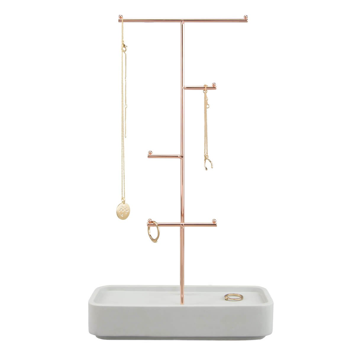 STACKERS Jewellery Storage - Concrete Resin Stacking Jewellery Hanger Carters of London 73862