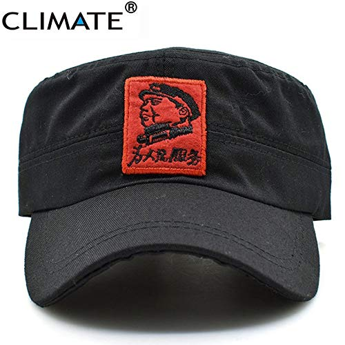 7440875f INF Climate New Men Army Military Caps Chinese Chairman Mao Zedong Cap Army  Green Flat Top Cap The Communist Party Adult Hat Caps: Amazon.in: Clothing  & ...