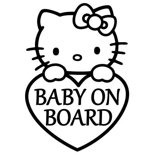 hello-kitty-heart-baby-on-board-vinyl-5-tall-color-black-decal-laptop-tablet-skateboard-car-windows-