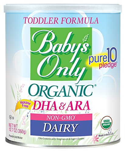 Baby's Only Dairy with DHA & ARA Toddler Formula - Non GMO, USDA Organic, Clean Label Project Verified, 12.7 oz