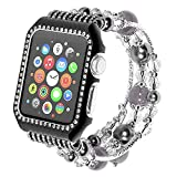 For Apple watch band, apple watch Jewelry strap, agate belt frame strap black 42mm