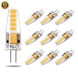 led bi pin bulbs - Led G4 Bulb AC/DC Bi Pin Warm White 12V 20W Halogen Replacement Led Light Bulb for Landscape Cabinets Range Hood 2W 200LM 10 Pack Yuiip