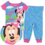 Disney Minnie Mouse Picnic Basket Cotton Girls Pajama Toddler sizes 2T-4T