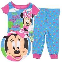 Disney Minnie Mouse Picnic Basket Cotton Girls Pajama Toddler sizes 2T-4T