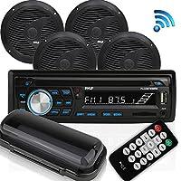 Pyle Bluetooth Marine Audio Stereo Kit [Radio Receiver &...