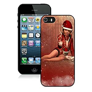 Customized Design Iphone 5S Protective Case Merry Christmas iPhone 5 5S TPU Case 4 Black
