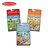 Melissa & Doug 93445 Water Wow! Reusable Color with Water Activity Pad 3-Pack, Farm, Safari, Under The Sea