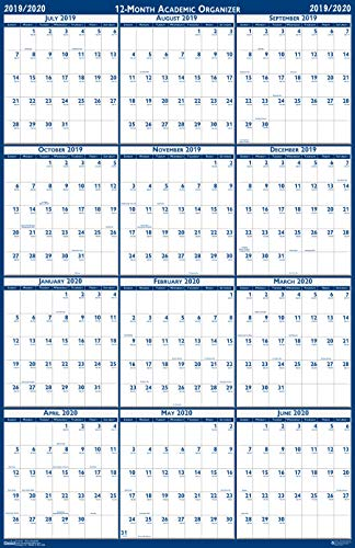 House of Doolittle 2019-2020 Laminated Academic Wall Calendar, Reversible, 24 x 37 Inches, July - June (HOD395-20) (Best Refrigerator For The Money 2019)