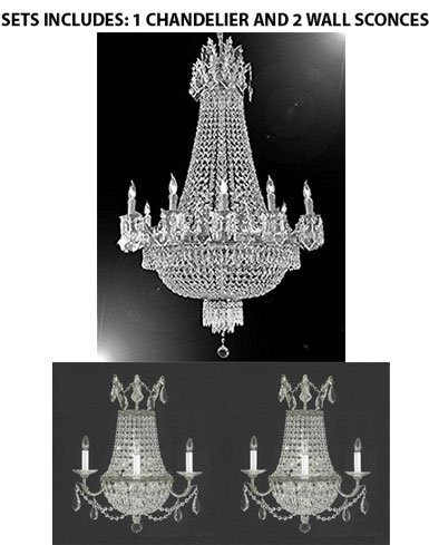 sports shoes 0fbd7 fc5b0 Set of 3-1 French Empire Crystal Chandelier Chandeliers ...