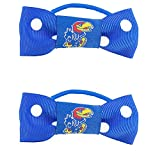NCAA Kansas Jayhawks Bow Pigtail Holder